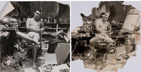 John Deakin's photograph of George Dyer in the Reece Mews Studio, ca. 1964, Dublin City Gallery the Hugh Lane (Image courtesy Art Gallery of NSW)
